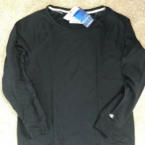 Women's Champion Crewneck Sweater Black 1X $32